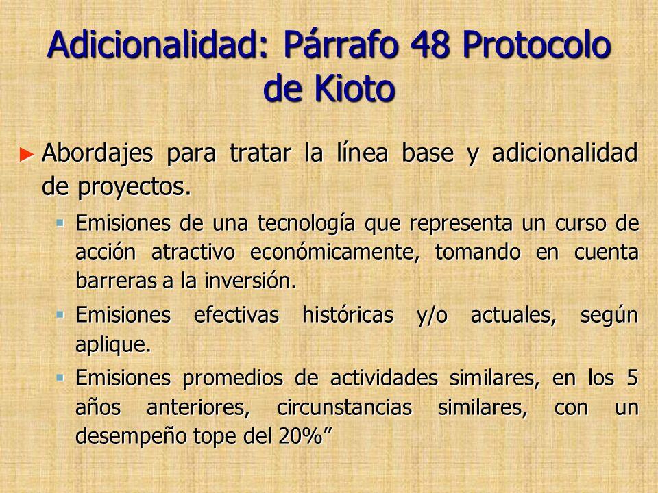 Adicionalidad: Párrafo 48 Protocolo de Kioto