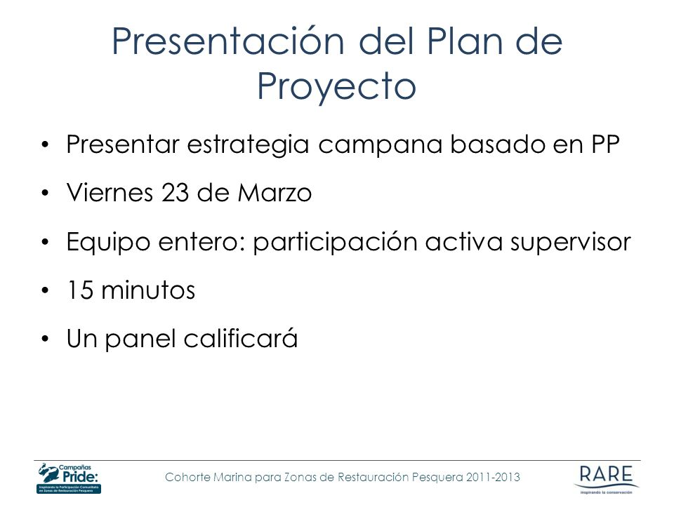 Presentación del Plan de Proyecto