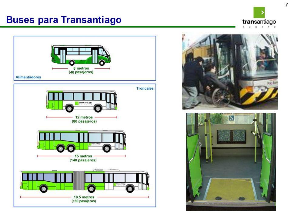 Buses para Transantiago