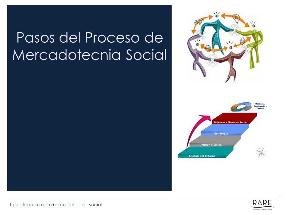 Pasos del Proceso de Mercadotecnia Social