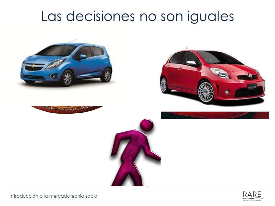 Las decisiones no son iguales