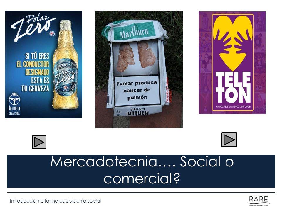 Mercadotecnia…. Social o comercial
