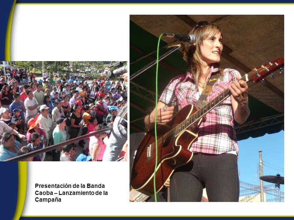 Presentación de la Banda Caoba – Lanzamiento de la Campaña