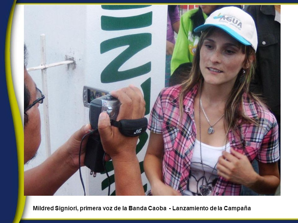 Mildred Signiori, primera voz de la Banda Caoba - Lanzamiento de la Campaña
