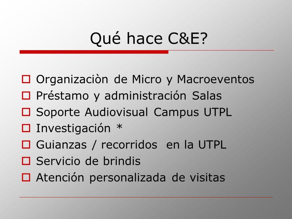 Qué hace C&E Organizaciòn de Micro y Macroeventos