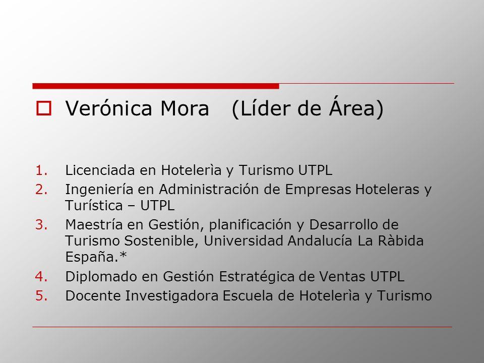 Verónica Mora (Líder de Área)