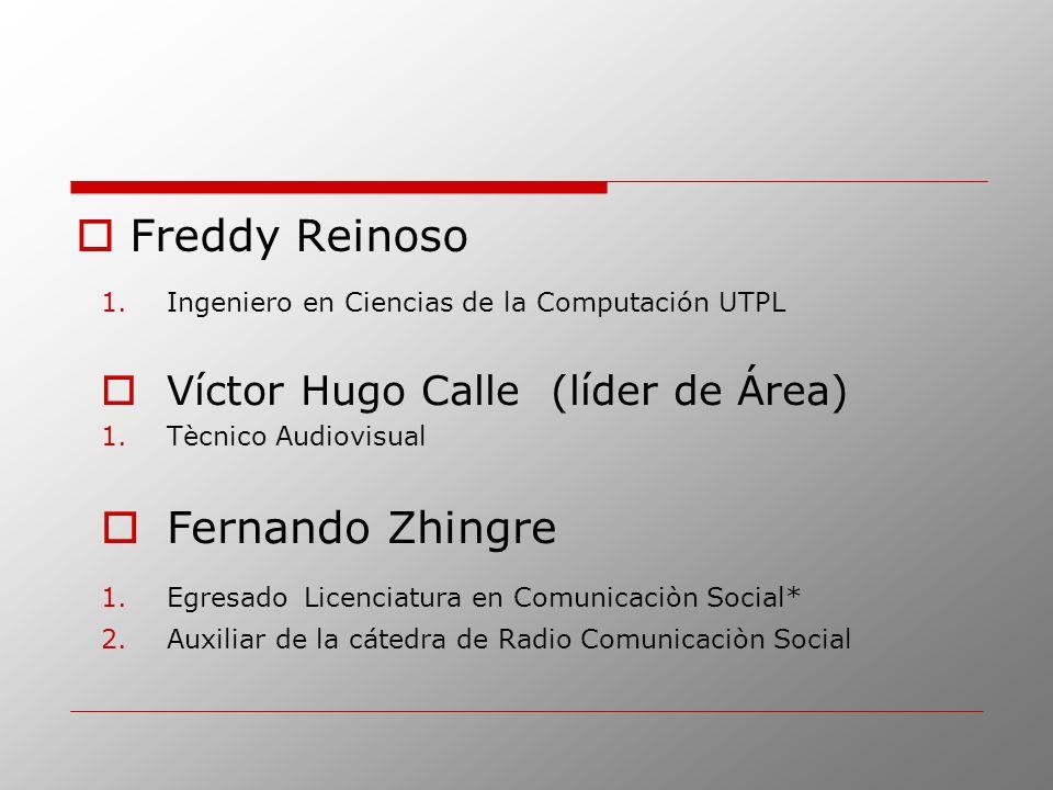 Freddy Reinoso Fernando Zhingre Víctor Hugo Calle (líder de Área)