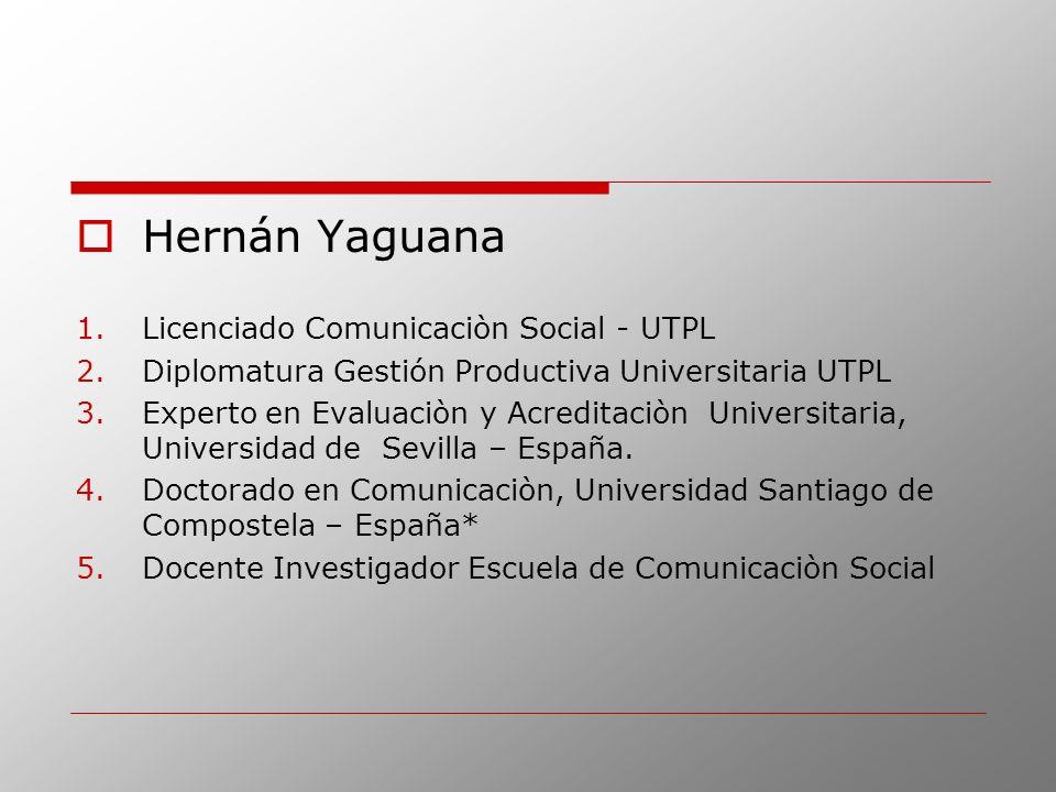 Hernán Yaguana Licenciado Comunicaciòn Social - UTPL