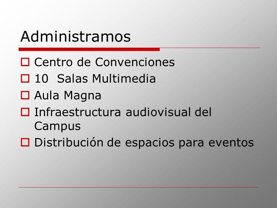 Administramos Centro de Convenciones 10 Salas Multimedia Aula Magna