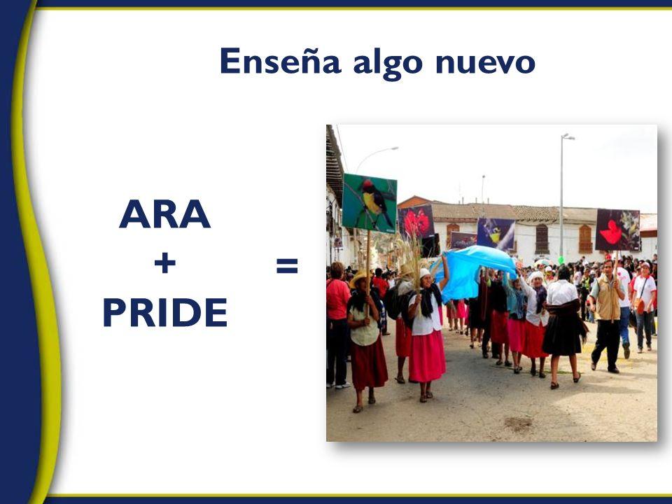 Enseña algo nuevo ARA + PRIDE =