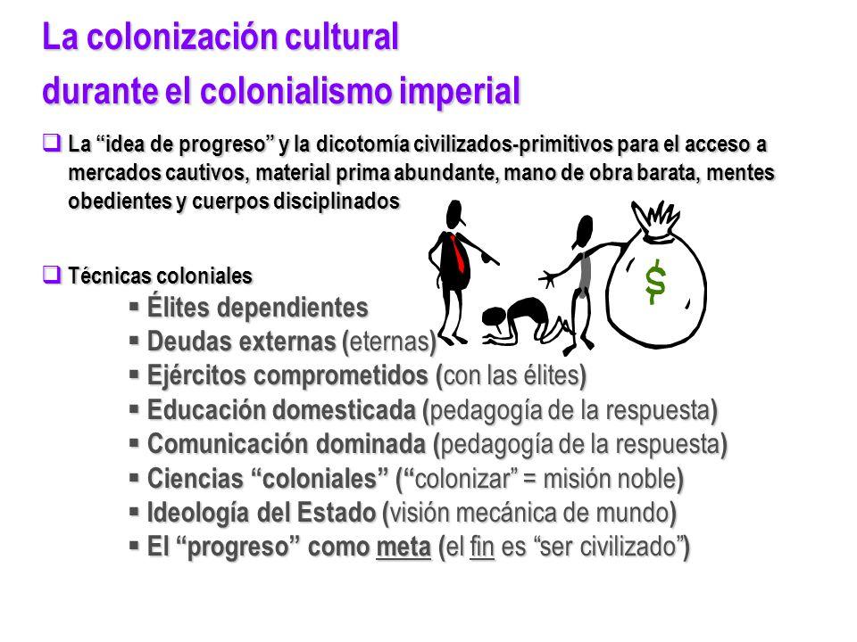 La colonización cultural durante el colonialismo imperial