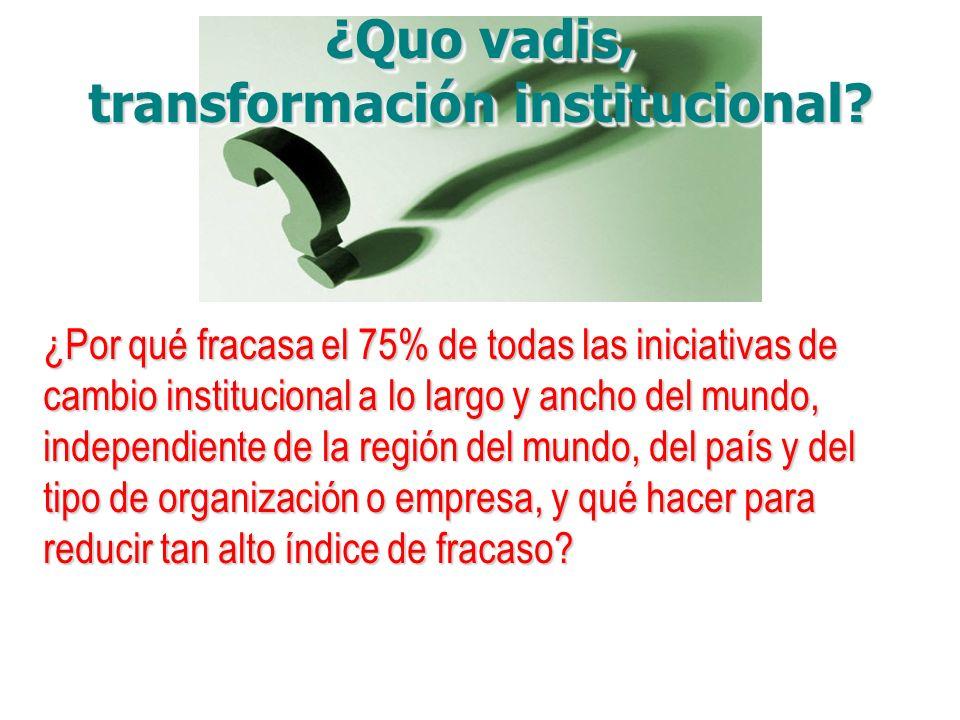transformación institucional