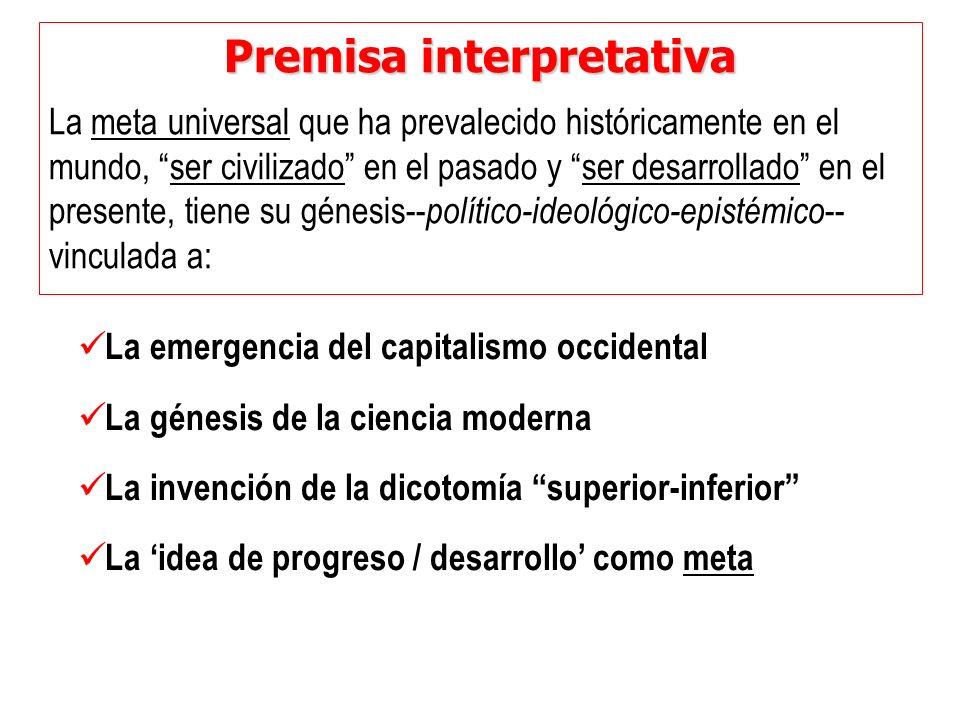 Premisa interpretativa
