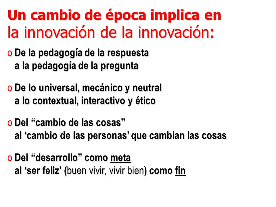 la innovación de la innovación:
