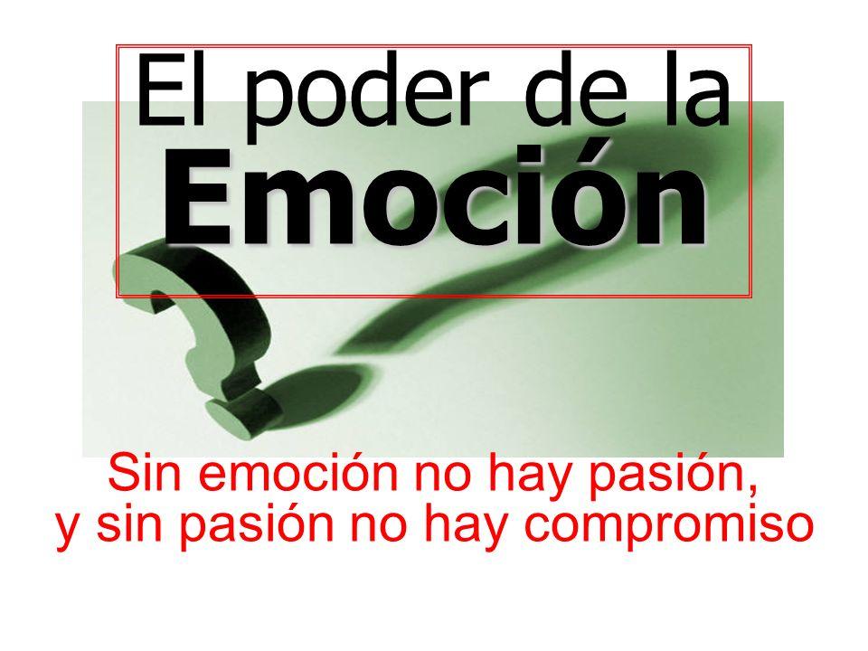 Emoción El poder de la Sin emoción no hay pasión,
