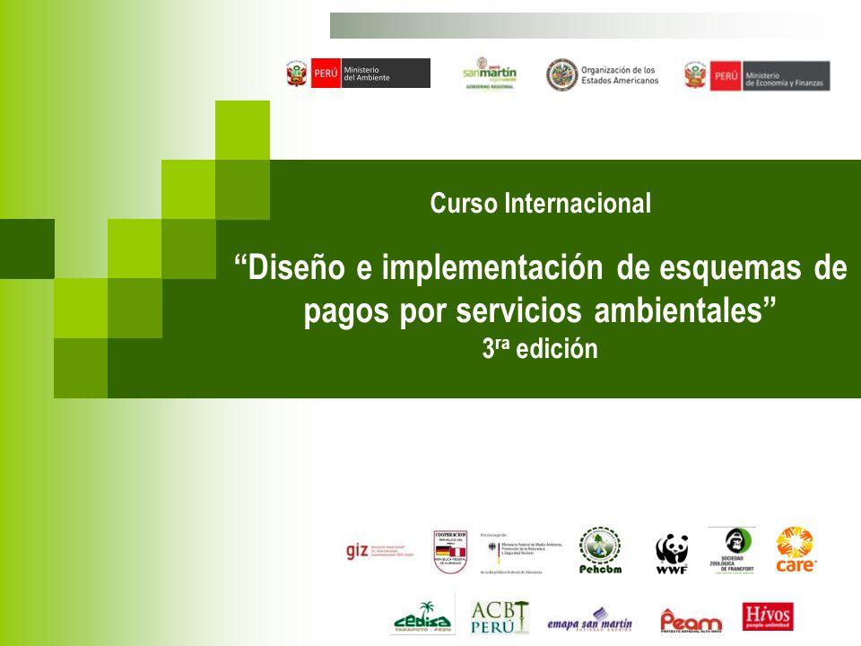 Curso Internacional Diseño e implementación de esquemas de pagos por servicios ambientales 3ra edición.