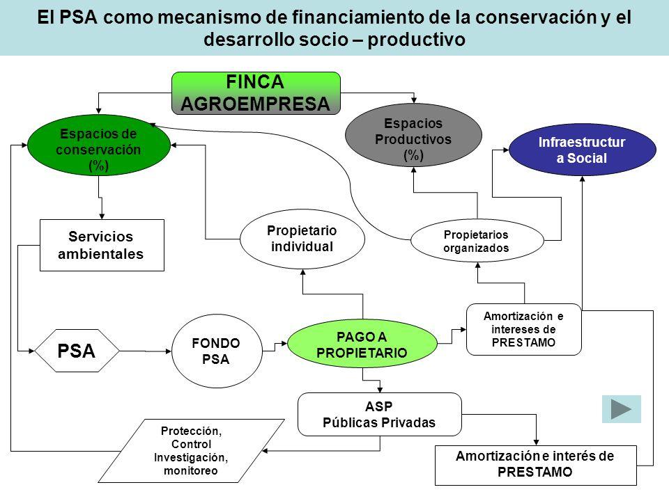 El PSA como mecanismo de financiamiento de la conservación y el desarrollo socio – productivo