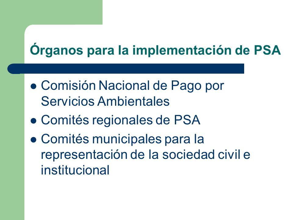 Órganos para la implementación de PSA