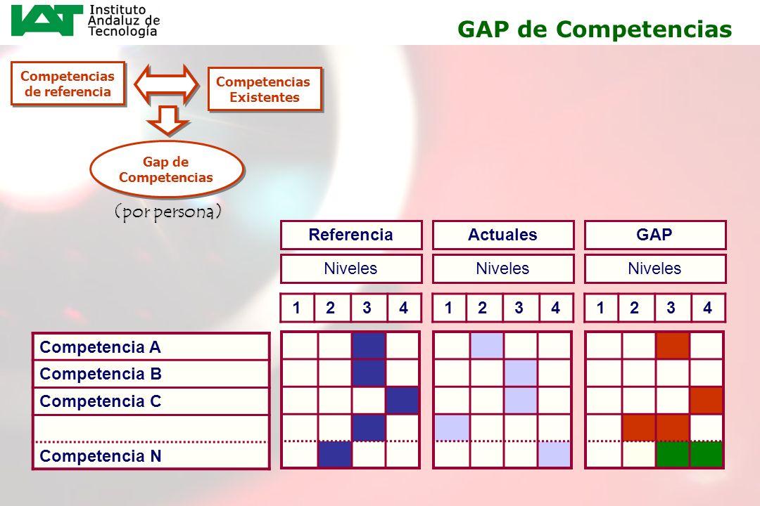GAP de Competencias (por persona) Referencia Actuales GAP Niveles