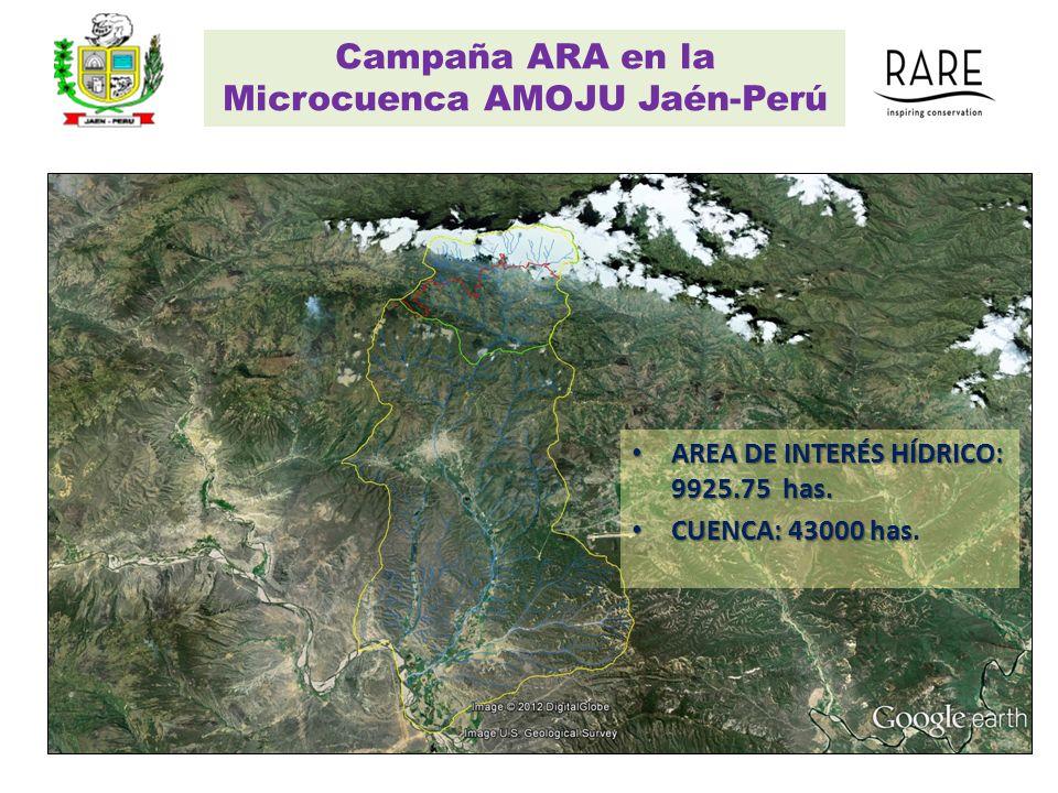 Campaña ARA en la Microcuenca AMOJU Jaén-Perú