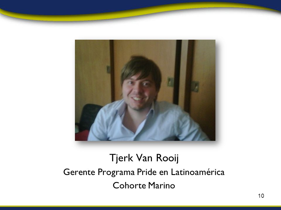 Tjerk Van Rooij Gerente Programa Pride en Latinoamérica Cohorte Marino