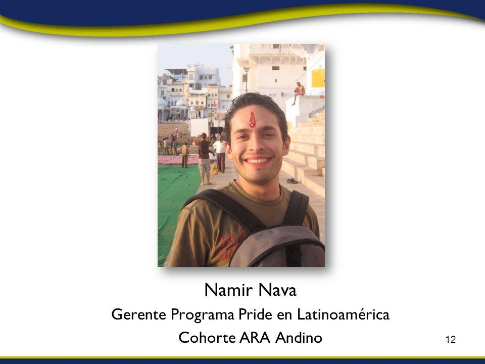 Namir Nava Gerente Programa Pride en Latinoamérica Cohorte ARA Andino