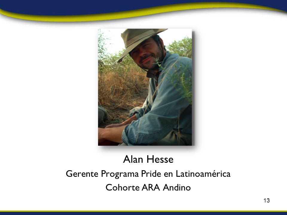 Alan Hesse Gerente Programa Pride en Latinoamérica Cohorte ARA Andino