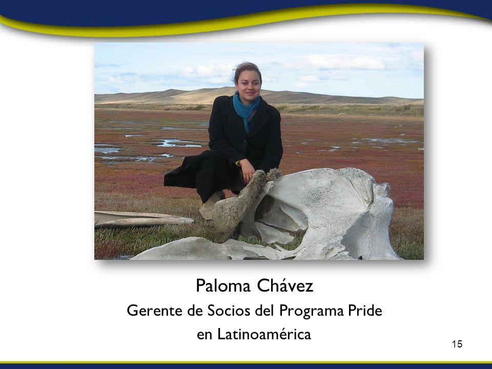 Paloma Chávez Gerente de Socios del Programa Pride en Latinoamérica