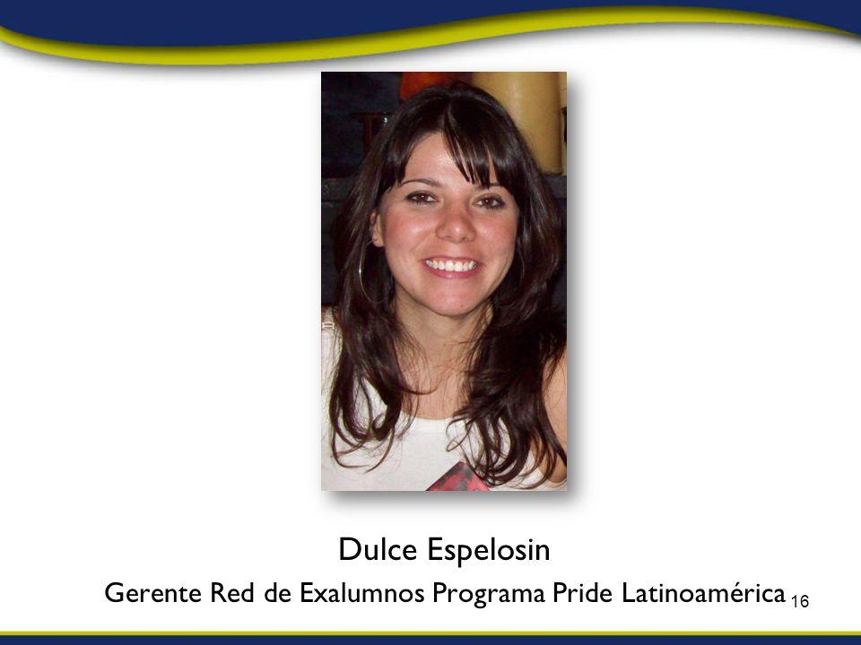 Dulce Espelosin Gerente Red de Exalumnos Programa Pride Latinoamérica