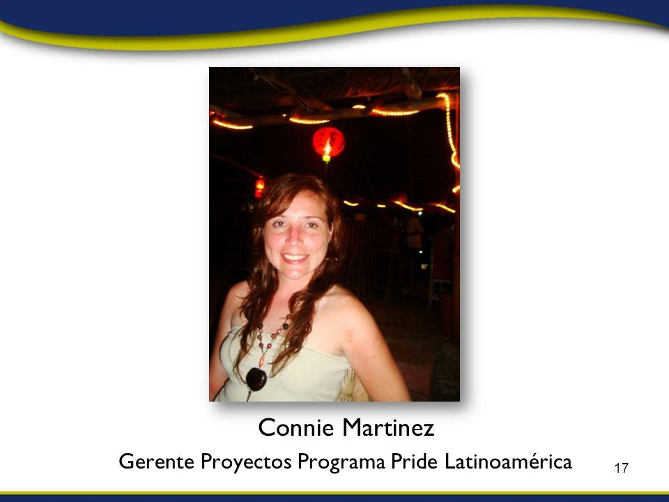 Connie Martinez Gerente Proyectos Programa Pride Latinoamérica