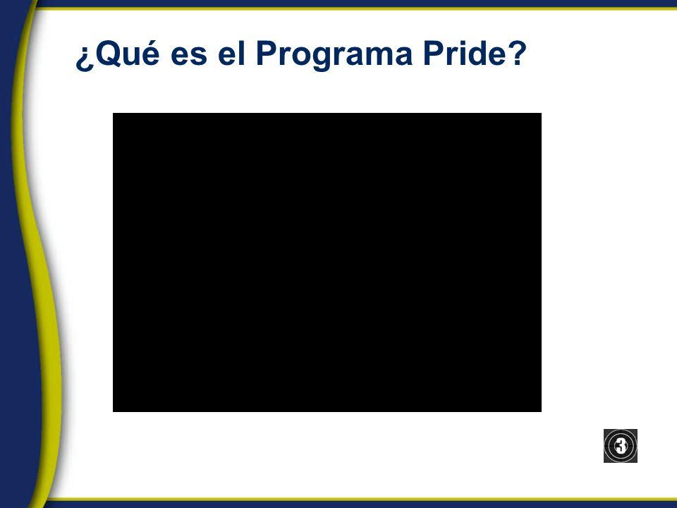 ¿Qué es el Programa Pride