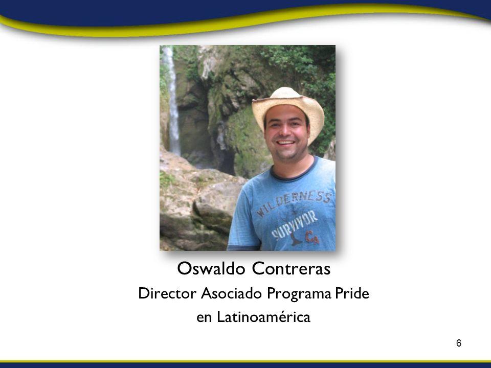 Oswaldo Contreras Director Asociado Programa Pride en Latinoamérica