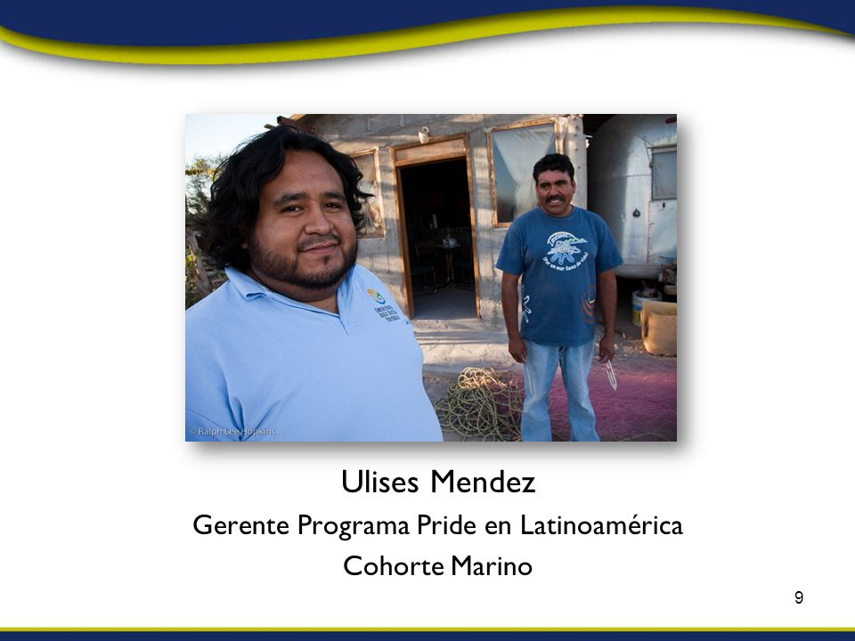 Ulises Mendez Gerente Programa Pride en Latinoamérica Cohorte Marino