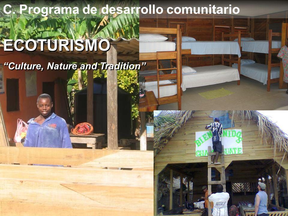 ECOTURISMO C. Programa de desarrollo comunitario