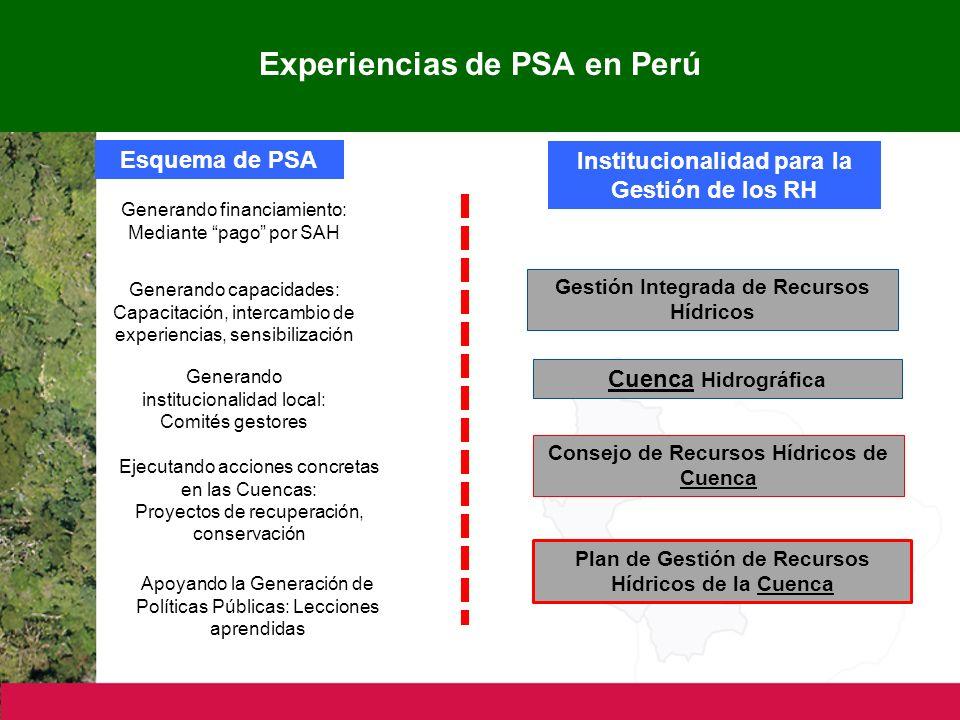 Experiencias de PSA en Perú