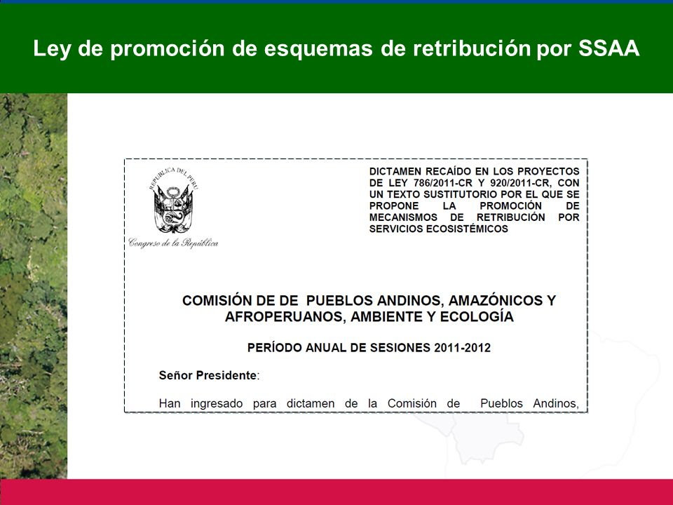 Ley de promoción de esquemas de retribución por SSAA