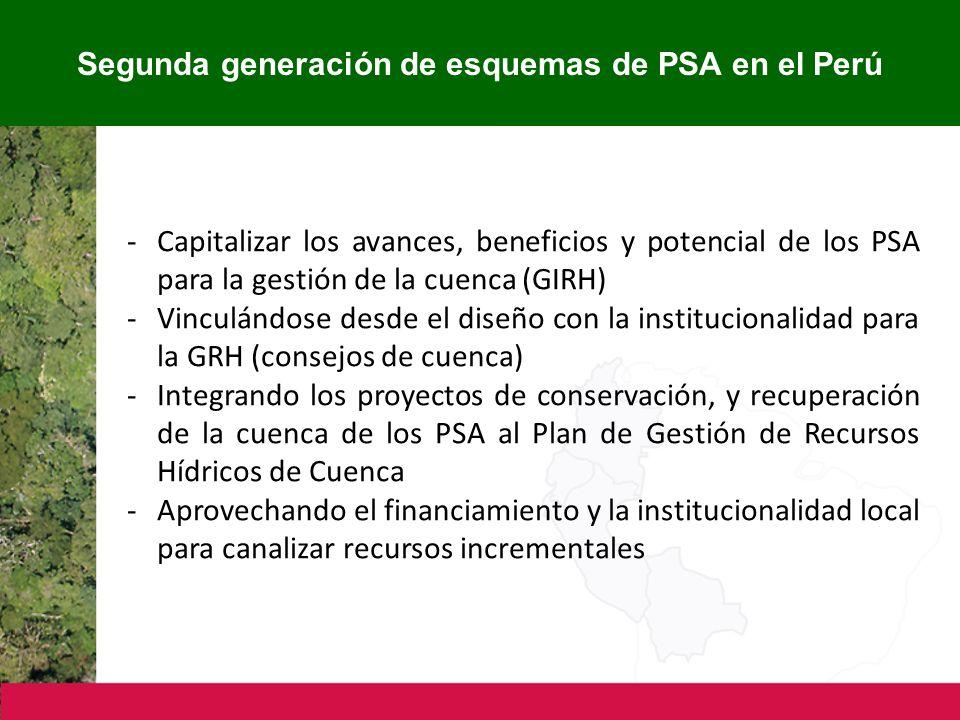 Segunda generación de esquemas de PSA en el Perú
