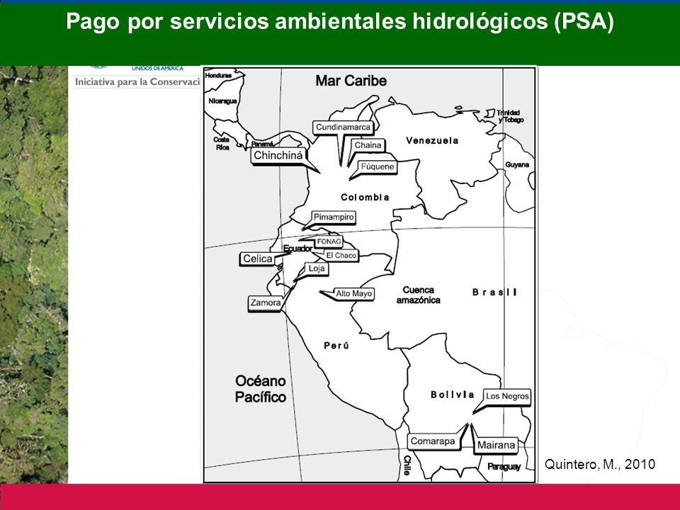 Pago por servicios ambientales hidrológicos (PSA)