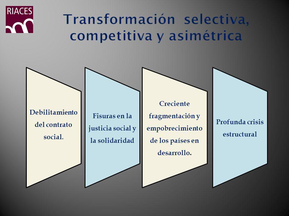 Transformación selectiva, competitiva y asimétrica