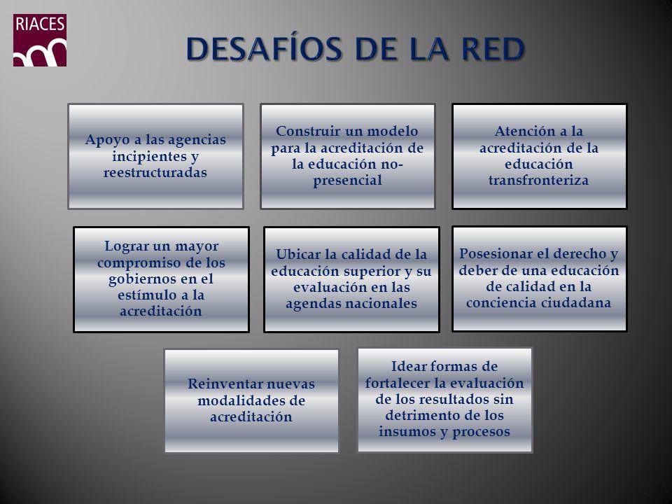 DESAFÍOS DE LA RED Apoyo a las agencias incipientes y reestructuradas
