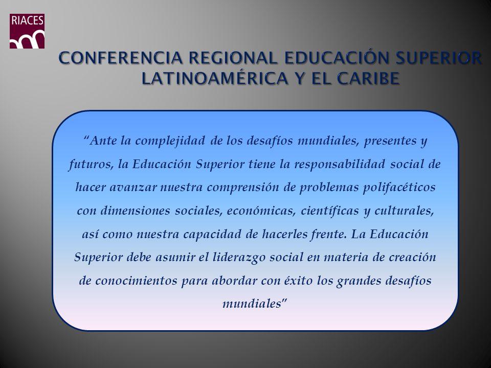 Conferencia Regional Educación Superior Latinoamérica y el Caribe