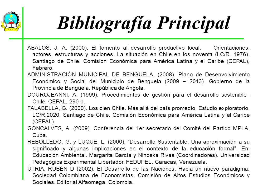 Bibliografía Principal