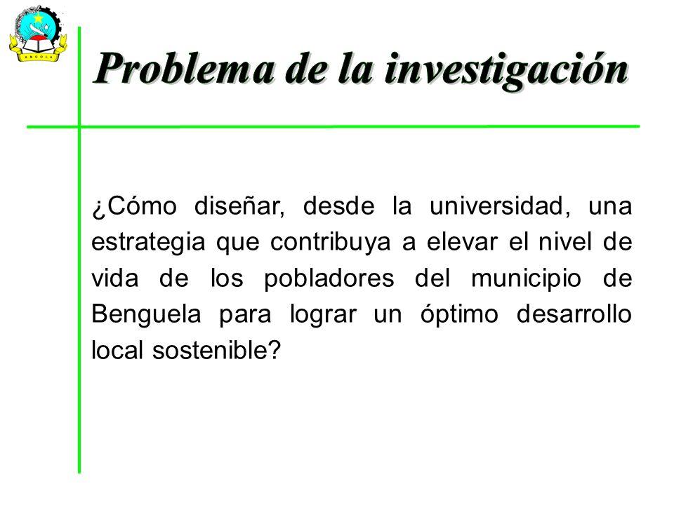 Problema de la investigación