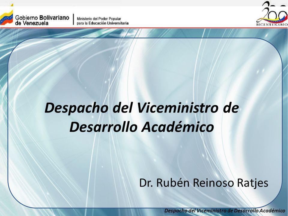 Despacho del Viceministro de Desarrollo Académico