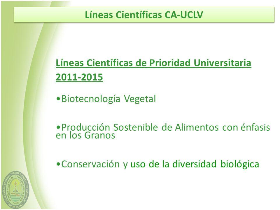 Líneas Científicas CA-UCLV