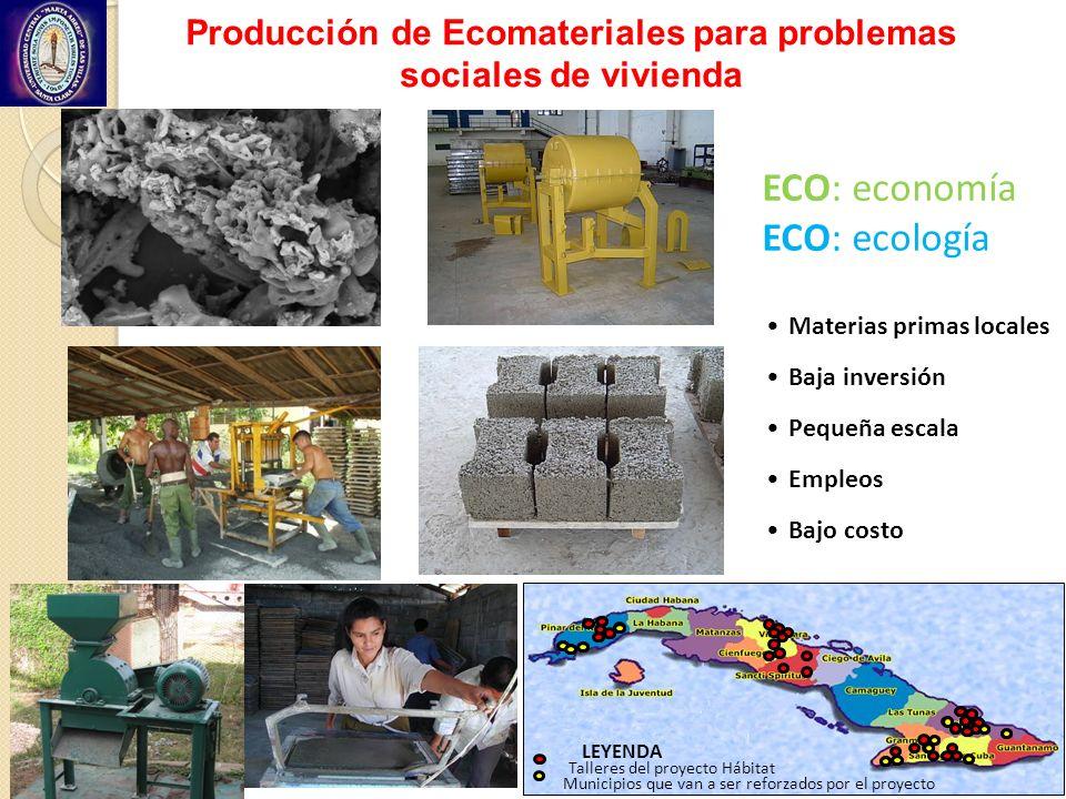 Producción de Ecomateriales para problemas sociales de vivienda
