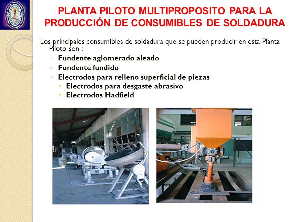 PLANTA PILOTO MULTIPROPOSITO PARA LA PRODUCCIÓN DE CONSUMIBLES DE SOLDADURA