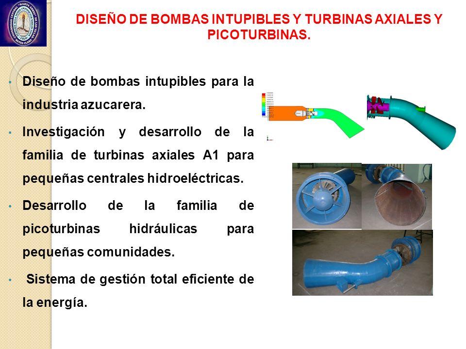 DISEÑO DE BOMBAS INTUPIBLES Y TURBINAS AXIALES Y PICOTURBINAS.