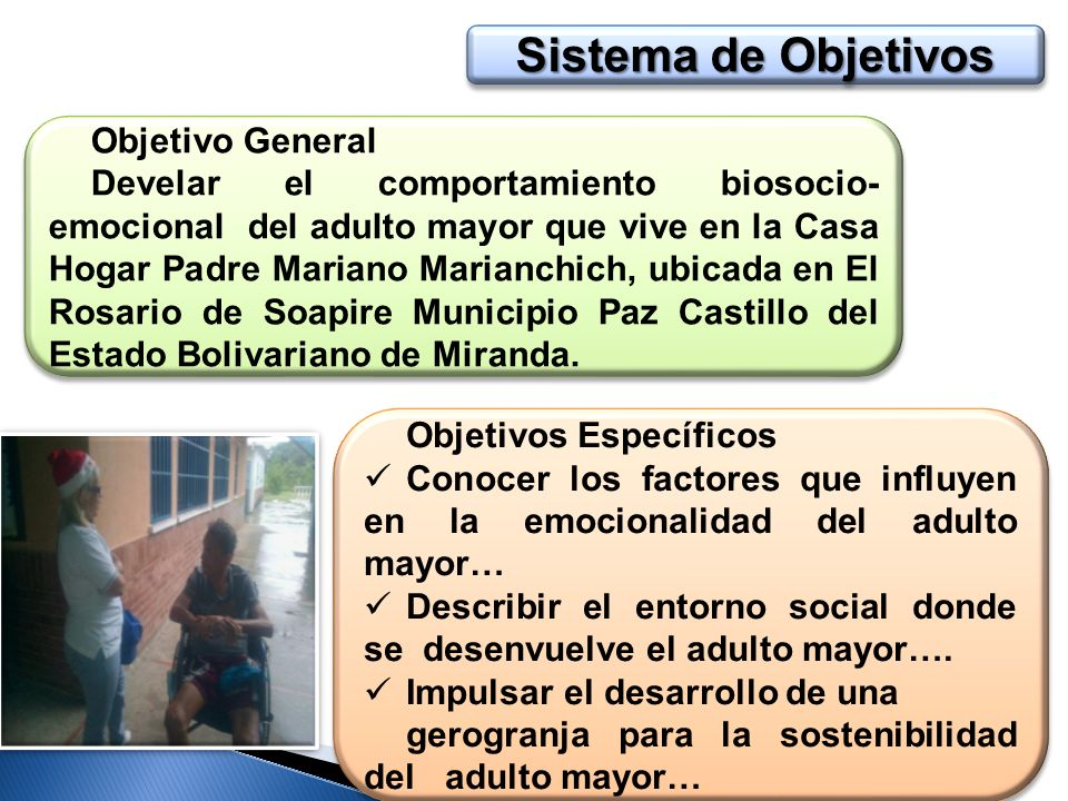 Sistema de Objetivos Objetivo General