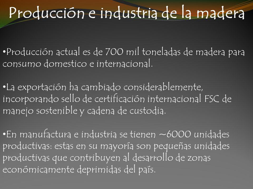 Producción e industria de la madera